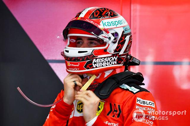 "Charles Leclerc, Ferrari in garage <span class=""copyright"">Mark Sutton / Motorsport Images</span>"