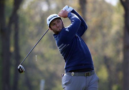 May 17, 2019; Bethpage, NY, USA; Jon Rahm plays his shot from the 12th tee during the second round of the PGA Championship golf tournament at Bethpage State Park - Black Course. Mandatory Credit: Peter Casey-USA TODAY Sports