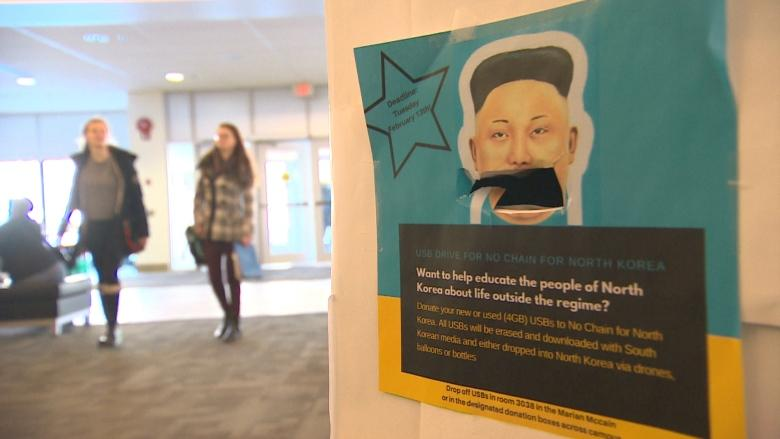 Dalhousie students fight North Korean propaganda with floating USB drives