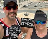 Hilda and Collin Allin covered the marathon distance by running more than 2,100 laps of their Dubai balcony