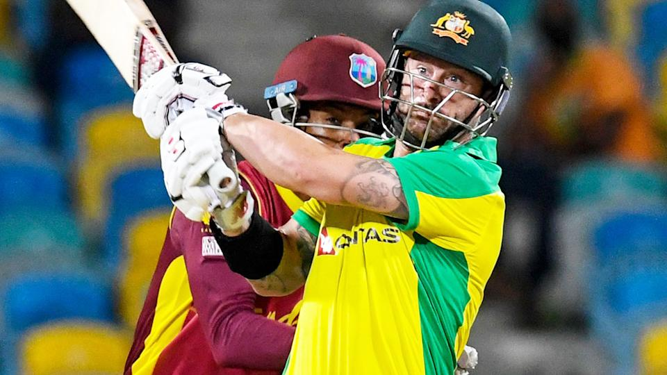 Matthew Wade, pictured here starring for Australia with the bat in the third ODI.