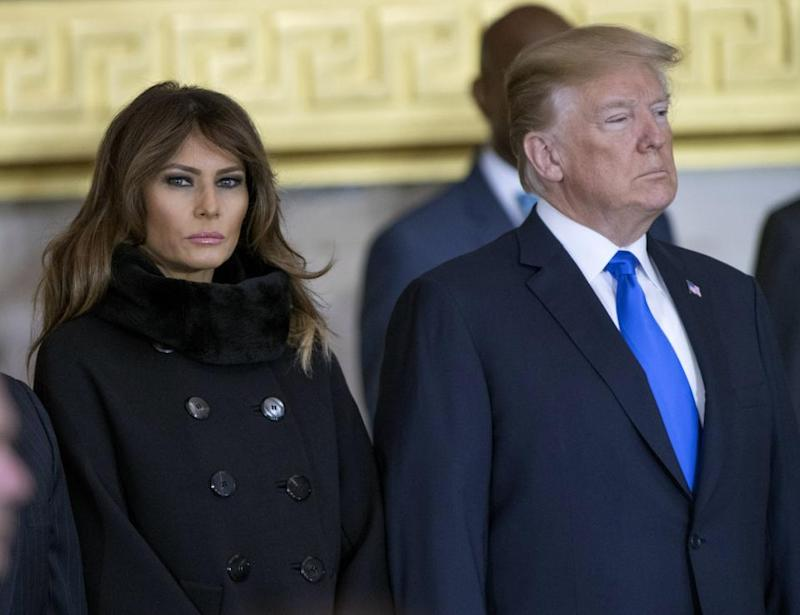 Why does Melania stay with Trump?