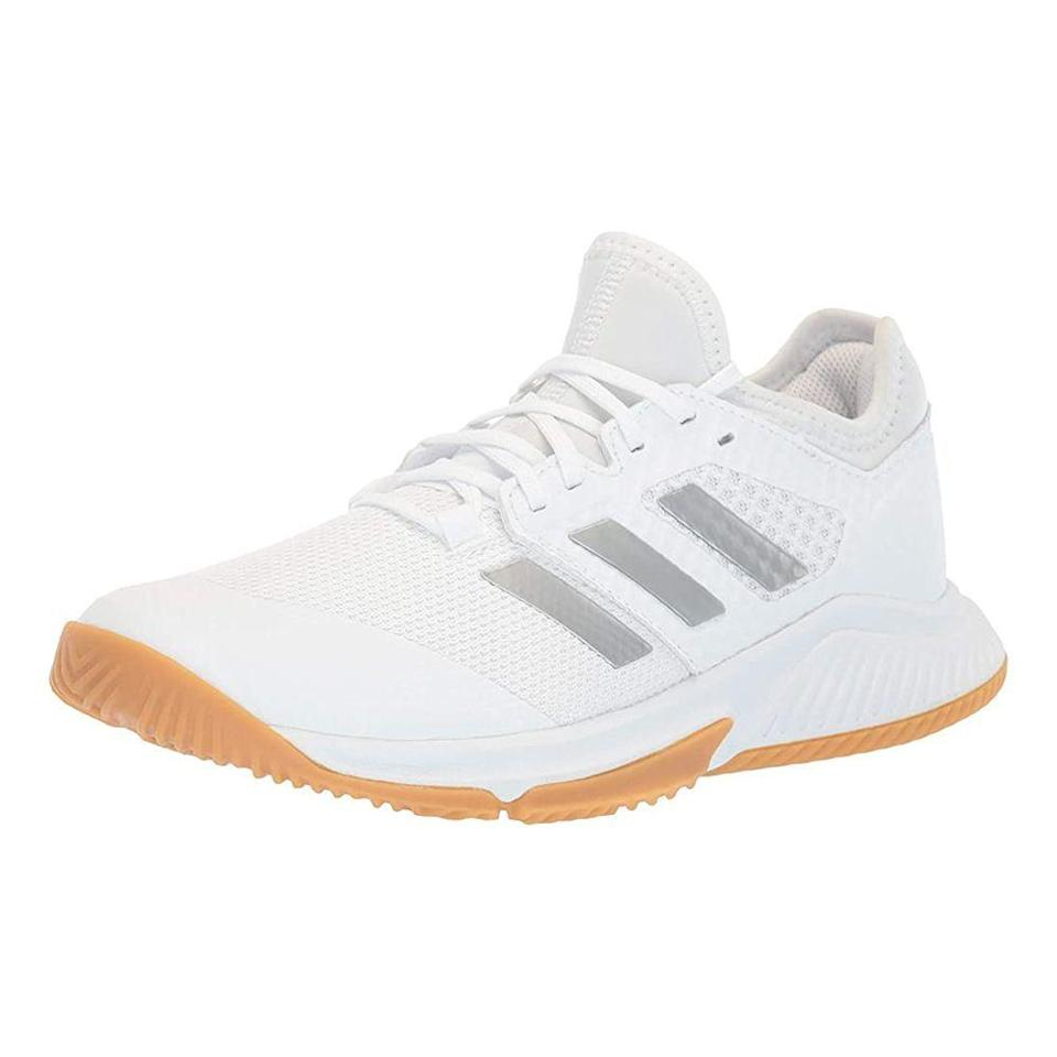 """<p><strong>adidas</strong></p><p>amazon.com</p><p><strong>$69.03</strong></p><p><a href=""""https://www.amazon.com/dp/B07S389XZR?tag=syn-yahoo-20&ascsubtag=%5Bartid%7C2141.g.22749024%5Bsrc%7Cyahoo-us"""" rel=""""nofollow noopener"""" target=""""_blank"""" data-ylk=""""slk:Shop Now"""" class=""""link rapid-noclick-resp"""">Shop Now</a></p><p>When you've got a condition like <a href=""""https://www.prevention.com/beauty/a20497385/best-shoes-for-plantar-fasciitis/"""" rel=""""nofollow noopener"""" target=""""_blank"""" data-ylk=""""slk:plantar fasciitis"""" class=""""link rapid-noclick-resp"""">plantar fasciitis</a>, you're looking for equal parts comfort, arch support, and stability in your cross training shoe, says Dr. Sutera. This option, which uses Adidas's Bounce technology, provides <strong>superior cushioning and support while also being flexible</strong>. One Amazon customer agrees, writing: """"Wide, stable sole! Comfortable, all day fit!"""" Plus, its upper is also made with a mesh material to deliver breathability and provide enough give for toes. </p>"""