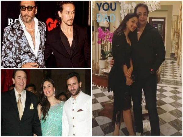Bollywood celebrities with their father