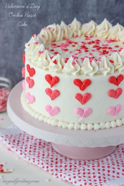 """<p>This probably isn't all that tricky to replicate. A little neat piping and you're golden.<i> [Photo: <a href=""""http://beyondfrosting.com/2016/01/18/valentines-day-ombre-heart-cake/?crlt.pid=camp.YcbTCUAKUbVl"""">Beyond Frosting</a>]</i></p>"""