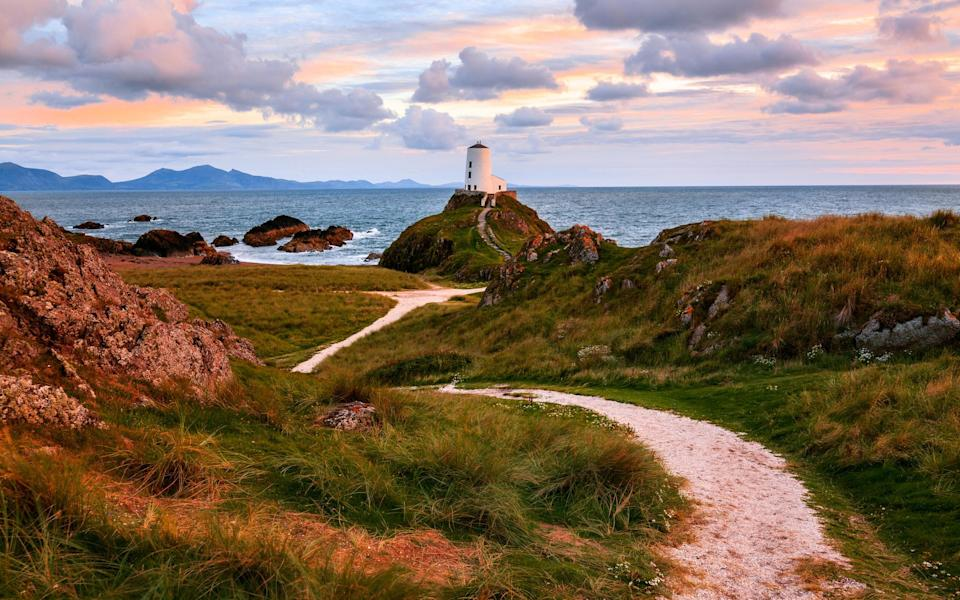 A lighthouse in North Wales.