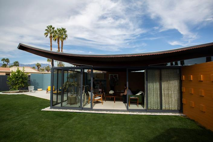The Wave House, designed by Walter S. White, was recently restored to honor its mid-century modern heritage in Palm Desert, Calif., on Feb. 18, 2020.