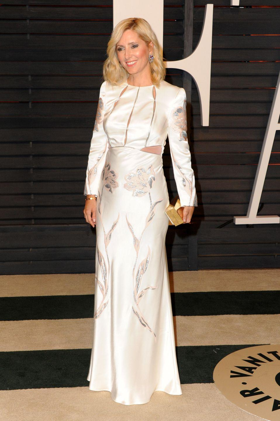 <p>The glamorous couple makes the international rounds, attending the Vanity Fair Oscars Party in 2015, where Marie-Chantal wore Alexander McQueen. </p>