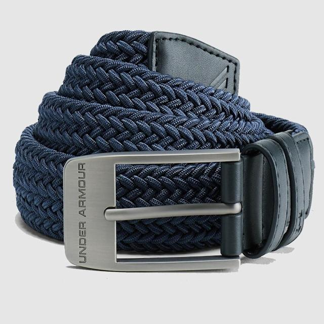 "<p>Put an end to dad's black-belt-with-blue-pants faux pas and get him a durable and stylish option. It has a bit of stretch for extra comfort and the leather end pieces give it a luxe finish.</p> <p><strong><a href=""https://www.dickssportinggoods.com/p/under-armour-braided-2-0-golf-belt-18uarmbrd20blt18mapa/18uarmbrd20blt18mapa"" rel=""nofollow noopener"" target=""_blank"" data-ylk=""slk:SHOP NOW"" class=""link rapid-noclick-resp"">SHOP NOW</a></strong></p>"