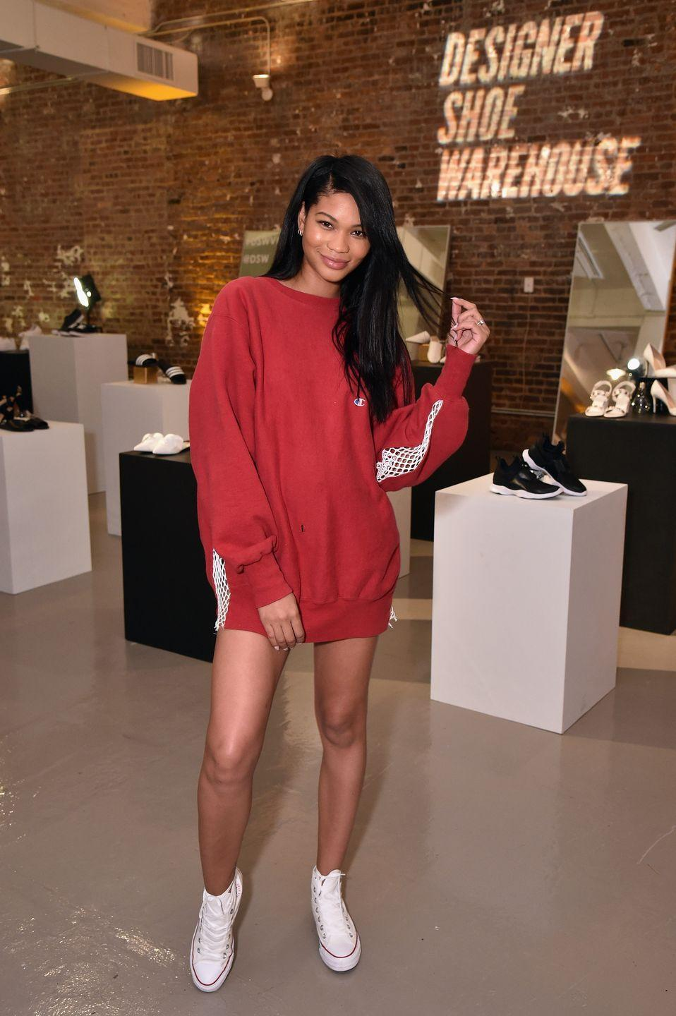 <p>Everyone loves this styling trick, from Ariana Grande to Chanel Iman. A massive hoodie and sneakers is the easiest outfit equation for the first day. </p>