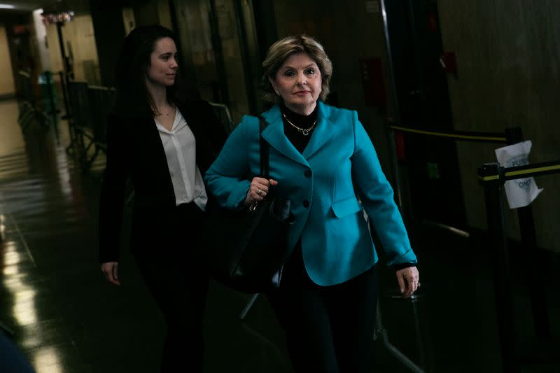 Attorney Gloria Allred arrives at New York Criminal Court for Harvey Weinstein sexual assault trial in the Manhattan borough of New York City