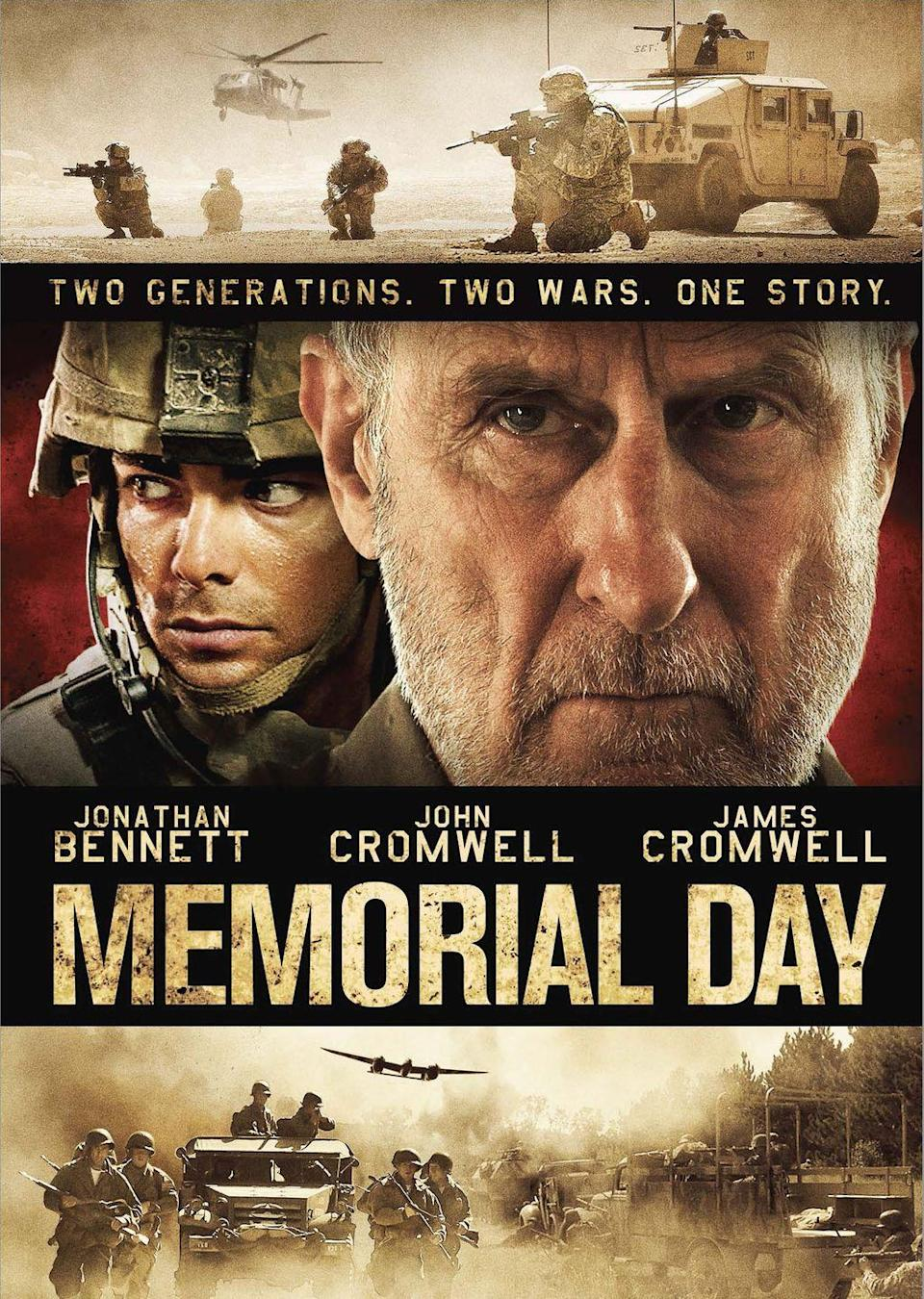 "<p><a class=""link rapid-noclick-resp"" href=""https://www.amazon.com/Memorial-Day-James-Cromwell/dp/B087ZN926B?tag=syn-yahoo-20&ascsubtag=%5Bartid%7C10070.g.36096919%5Bsrc%7Cyahoo-us"" rel=""nofollow noopener"" target=""_blank"" data-ylk=""slk:STREAM NOW"">STREAM NOW</a></p><p>Told through flashbacks and glimpses into the future,<em> Memorial Day</em> follows the stories of a grandfather, who was part of the 82nd Airborne Division in World War II, and his grandson, who eventually joins the 34th Infantry Division in Iraq. This movie will show you a whole new side of <em>Mean Girl</em>'s Jonathan Bennett.</p>"