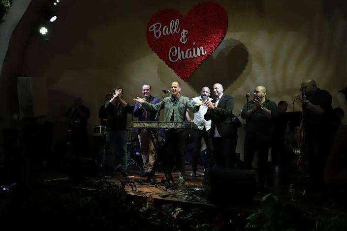 Marcus Lemonis takes the stage at the popular bar/restaurant Ball & Chain during CNBC's 'Streets of Dreams' episode focusing on Little Havana airing on Tuesday Jan. 12, 2021.