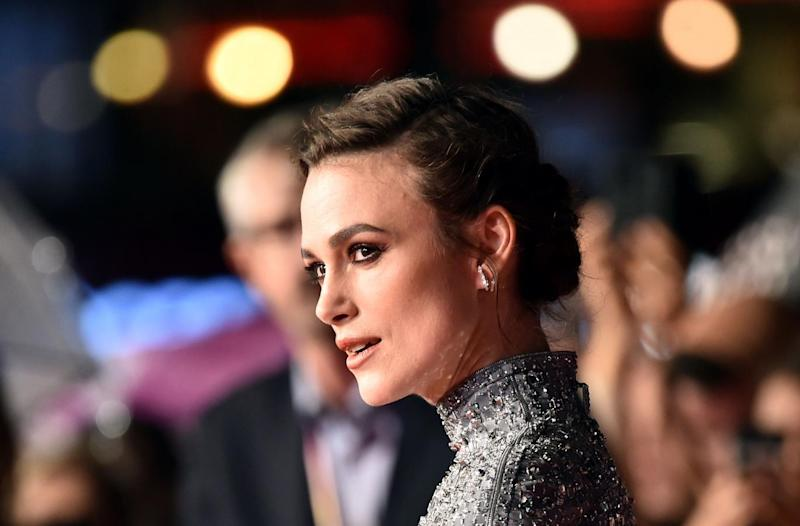 Ms Knightley dazzled fans in a glamorous sequined dress (PA)