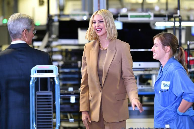 Ivanka Trump tours the manufacturing facility where Mac Pros are assembled in Austin, Texas, on November 20 (AFP Photo/MANDEL NGAN)