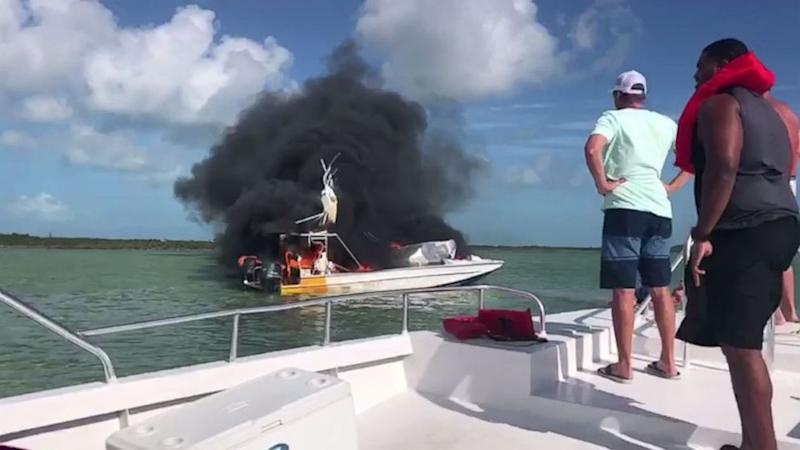 Boat fire: Six injured at PMH, four transported to Florida
