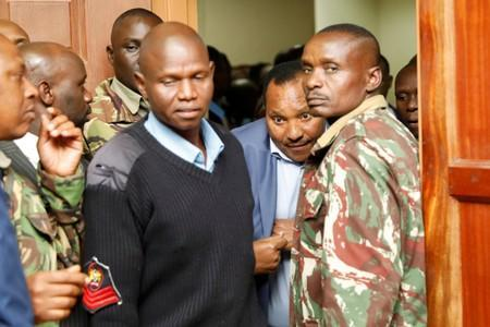 Kiambu county governor Ferdinand Waititu arrives in court to face corruption-related charges, at the Milimani Law Courts in Nairobi