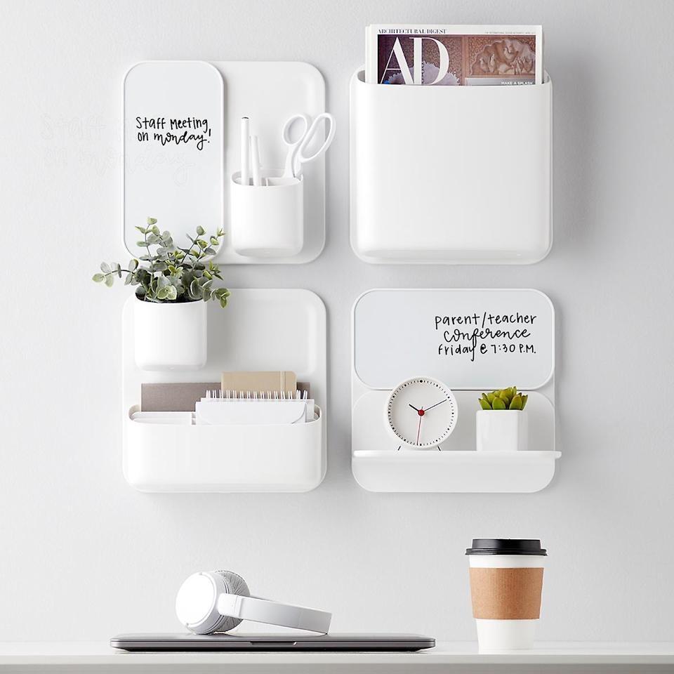 "<h3><a href=""https://www.containerstore.com/s/perch-magnetic-modular-system-components/d?productId=11009070"" rel=""nofollow noopener"" target=""_blank"" data-ylk=""slk:The Container Store Magnetic Modular System Components"" class=""link rapid-noclick-resp"">The Container Store Magnetic Modular System Components</a></h3> <br><strong>When you don't have space for a workspace</strong>: This magnetic-modular wall system won't just stash all your home-office essentials in an elevated style, it will also provide some fresh space for planting a tiny apartment garden too.<br><br><strong>Container Store</strong> Perch Magnetic Modular System Components, $, available at <a href=""https://go.skimresources.com/?id=30283X879131&url=https%3A%2F%2Fwww.containerstore.com%2Fs%2Fperch-magnetic-modular-system-components%2Fd%3FproductId%3D11009070"" rel=""nofollow noopener"" target=""_blank"" data-ylk=""slk:The Container Store"" class=""link rapid-noclick-resp"">The Container Store</a>"