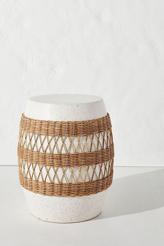 """<p><strong>Anthropologie</strong></p><p>anthropologie.com</p><p><strong>$148.00</strong></p><p><a href=""""https://go.redirectingat.com?id=74968X1596630&url=https%3A%2F%2Fwww.anthropologie.com%2Fshop%2Fmaggie-rattan-wrapped-stool&sref=https%3A%2F%2Fwww.veranda.com%2Fluxury-lifestyle%2Fg36523869%2Frattan-furniture%2F"""" rel=""""nofollow noopener"""" target=""""_blank"""" data-ylk=""""slk:Shop Now"""" class=""""link rapid-noclick-resp"""">Shop Now</a></p><p>Looking to add just a hint of rattan? This <a href=""""https://www.anthropologie.com/"""" rel=""""nofollow noopener"""" target=""""_blank"""" data-ylk=""""slk:Anthropologie"""" class=""""link rapid-noclick-resp"""">Anthropologie</a> piece can act as a side table or stool for just a hint of vintage cool.</p>"""
