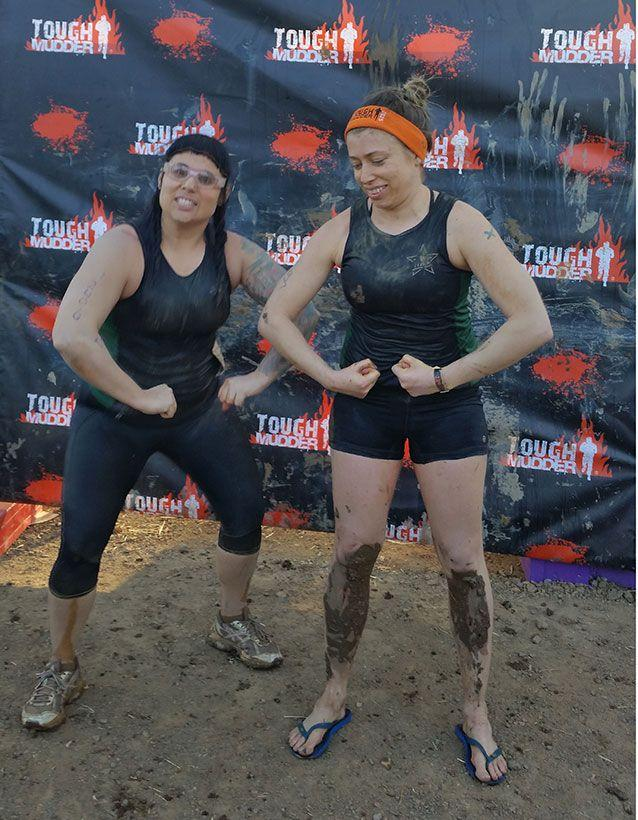 Last year I competed in Tough Mudder with my friend and fitspo Jess Boyd. Picture: Supplied