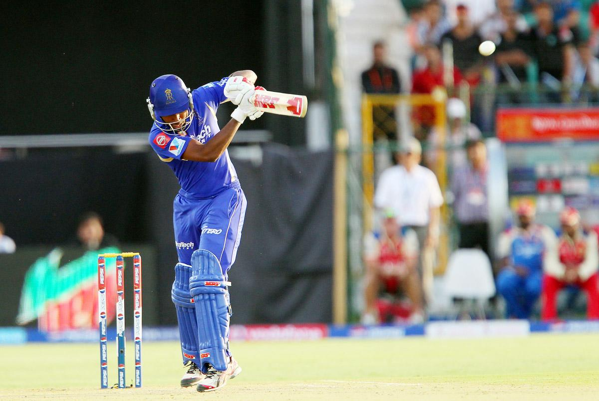 Sanju Samson during match 40 of the Pepsi Indian Premier League ( IPL) 2013  between The Rajasthan Royals and the Royal Challengers Bangalore held at the Sawai Mansingh Stadium in Jaipur on the 29th April 2013. (BCCI)