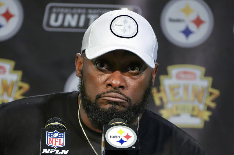 Pittsburgh Steelers head coach Mike Tomlin is off to an 0-3 start this season. (AP)