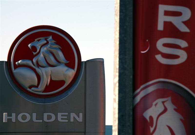 File photo of a Holden logo displayed at a dealership located in Perth