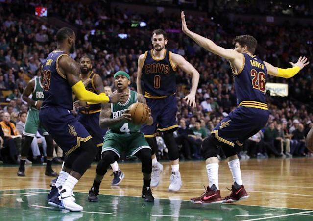Either the Celtics or Cavs will end Wednesday with the East's top seed. (AP)