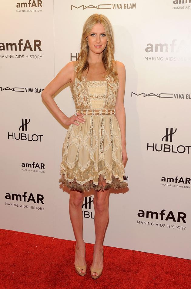 Even though you look like a 10-year-old at a garden party, Nicky Hilton, we have to admit we love this dress.