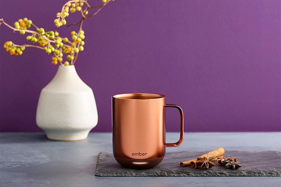 <p>They can keep their drink warm however long they desire with the cool <span>Ember Temperature Control Smart Mug</span> ($130).</p>
