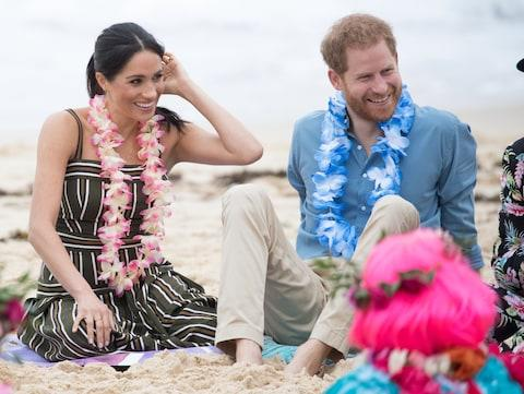 The Duke and Duchess of Sussex in Sydney on their tour of Australia - Credit: Getty