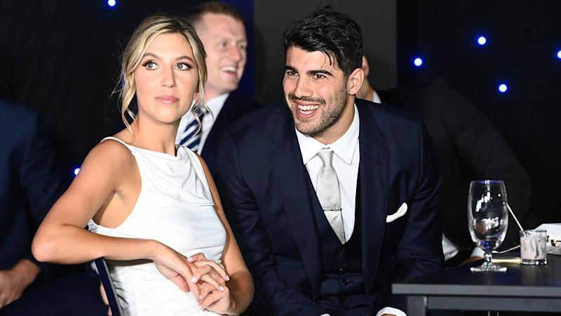 Seen here, Christian Petracca and his partner Isabella Beischer.