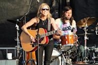 <p>Sheryl Crow and Fred Eltringham hit the stage at Moon Crush Music Vacation on Thursday at Seascape Resort in Miramar Beach, Florida. </p>