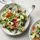 <p>This easy pasta salad with smoked salmon and peas and a creamy buttermilk-herb dressing takes just 20 minutes to make. Frozen peas are cooked right in the same pot as the pasta, and the dressing is whipped up in the serving bowl, saving you time and dishes! It's the perfect fresh and healthy dinner to add to your weeknight rotation and would also be lovely for a luncheon or brunch. But given how easy it is, it could also be an elegant take-to-work lunch.</p>