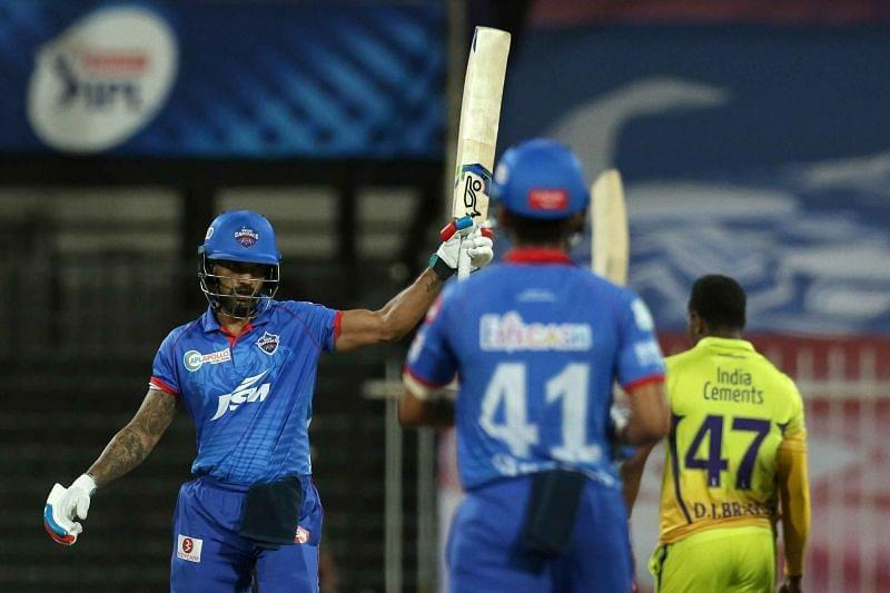 Shikhar Dhawan made full use of the lives given to him by the CSK fielders [P/C: iplt20.com]