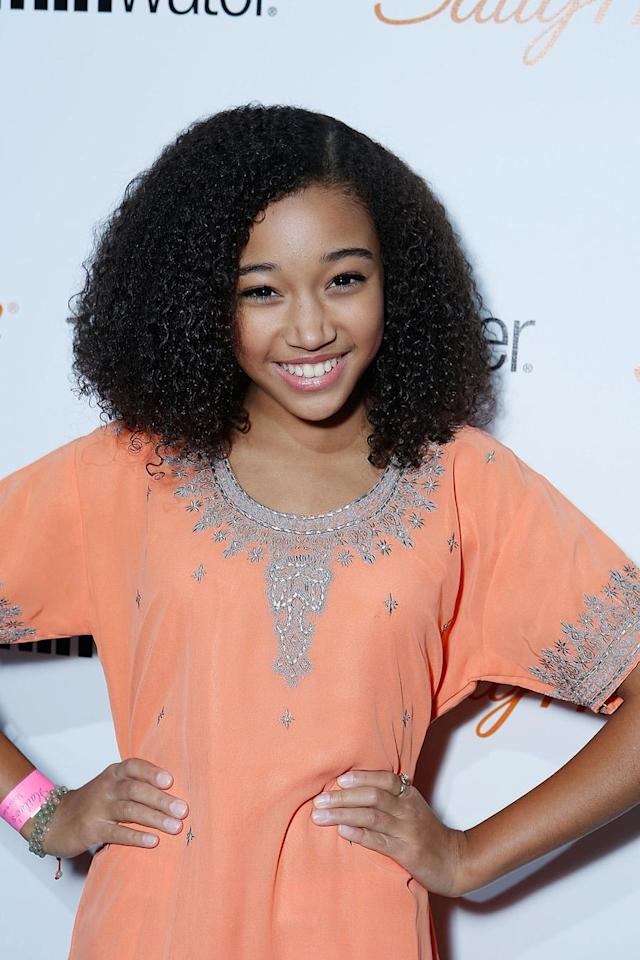 <p>Amandla Stenberg on Dec. 15, 2012, in Los Angeles. (Photo: Alexandra Wyman/Getty Images for vitaminwater) </p>