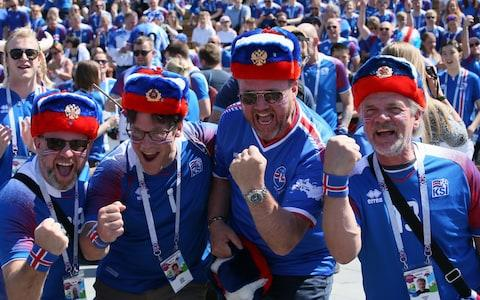 Iceland fans in Moscow - Credit: Getty images