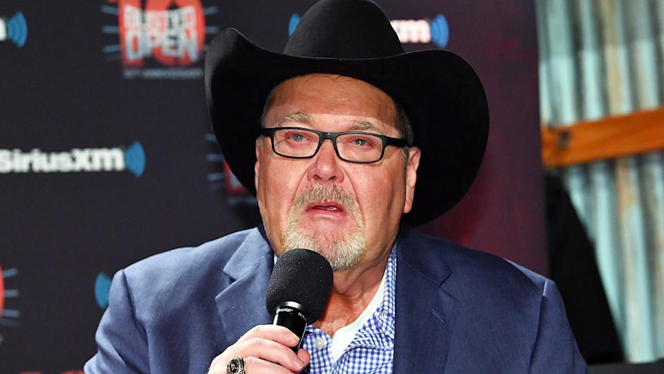 Jim Ross signed a three-year contract to commentate for the AEW wrestling company in April 2019. (Photo by Slaven Vlasic/Getty Images for SiriusXM)