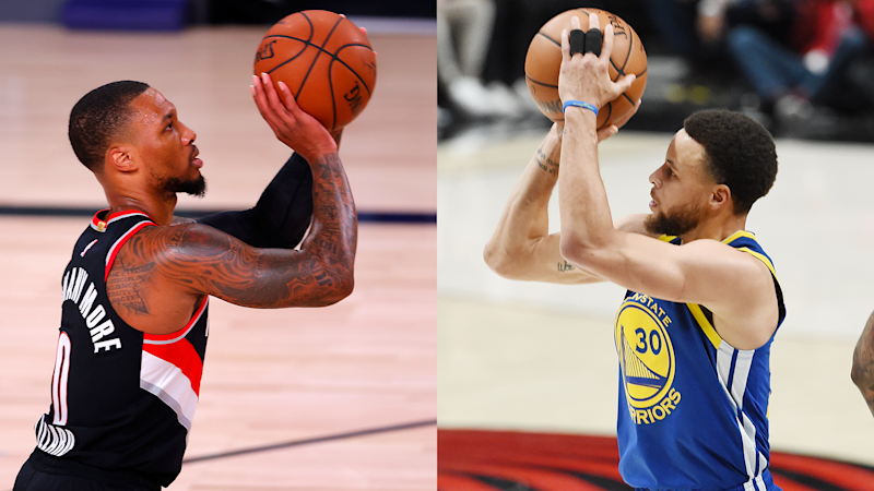 Kenny Smith doesn't believe Steph Curry can 'shoot as deep' as Damian Lillard