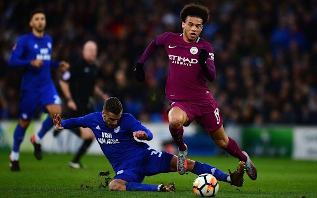 "Pep Guardiola has revealed Leroy Sane is returning to boost Manchester City's Champions League mission, just over two weeks since suffering ankle ligament damage. Sane has flown out with City's squad to Basel for the round of 16 tie and could even start at St. Jakob-Park as City return to European competition. It was initially feared that the Germany international could be sidelined until late March after he was the victim of a dreadful challenge from Cardiff defender Joe Bennett in the FA Cup tie between the two clubs last month. The tackle infuriated Guardiola and sparked off an angry tirade from the City manager over the standard of refereeing and absence of protection for his players. But Sane has only missed Premier League games against West Bromwich Albion, Burnley and Leicester and has made himself available as Guardiola pursues the quadruple. David Silva is also back from injury Credit: Action Images David Silva and Fabian Delph are also in City's squad, after returning from injuries, but it is the swift return of Sane that has stunned Guardiola. If the winger does appear against FC Basel, it will ensure he has returned five weeks ahead of schedule. Guardiola said: ""I'm surprised but he has worked a lot. I couldn't expect it with a young guy, to be so professional. ""He's not in perfect condition but he has run a lot and he wants to help us. He is with us and that's good news. They have done a good job, both the physio's and himself."" When asked if Sane could start, Guardiola smiled and replied simply: ""He's young"". Sitting next to Guardiola was Vincent Kompany and there was a wonderful moment when the City captain remarked on Sane's swift return by admitting ""a bit longer than I usually take"", in reference to his persistent injury problems. Kompany is likely to be involved against the Swiss champions and has admitted it is now City's time to finally issue a statement of intent in this competition. The Belgium international knows from painful experience how City have struggled during previous European excursions: his career with the club began in 2008 when City competed in the Uefa League. Last season they were knocked out of the Champions League at the last 16 stage on away goals by Monaco but Kompany believes this year could be different. ""We've been caught out in Europe on occasions we shouldn't have but things have changed. If there is a year, a moment when the club is ready to feel at home, then it is now,"" he said. ""Some clubs never win it, but if every year we can go with this kind of confidence then if not this year or next year, eventually we'll get there. I'm sure of it. ""We are trying to break into a well-established order - Barcelona, Bayern Munich, Real Madrid, - any team who has tried it has failed. First it's Basel and then getting to the stage where we can measure ourselves against these teams and feel like we can beat them."" City will face an Basel team who embarrassed Manchester United in the group stages, while they also recorded an impressive 5-0 home victory over Benfica. The Swiss team have been league winners eight times in a row but manager Raphael Wicky is acutely aware that his side face a daunting task. ""I think the team has no weaknesses, they show that every three days in all competitions,"" he said. ""They are a very flexible team and are able to react very well to the opposition. We don't have to talk about the quality of the opponents or the coach. ""If we fight in such competitions, we need a perfect night, with a lot of courage, emotion, and the fans have to be there, for us to stage a surprise. ""We have the belief that we can do it, but there is no great tactical plan behind it."""
