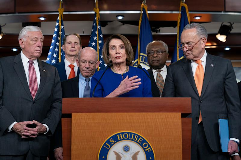 Speaker Nancy Pelosi is trying to quell growing calls from the House Democratic Caucus to launch an impeachment inquiry into President Donald Trump. (Photo: ASSOCIATED PRESS)