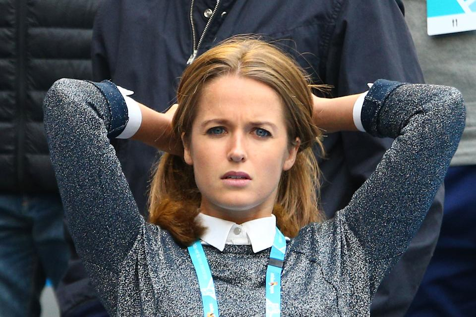 Andy Murray's wife Kim Sears (pictured) in the crowd.