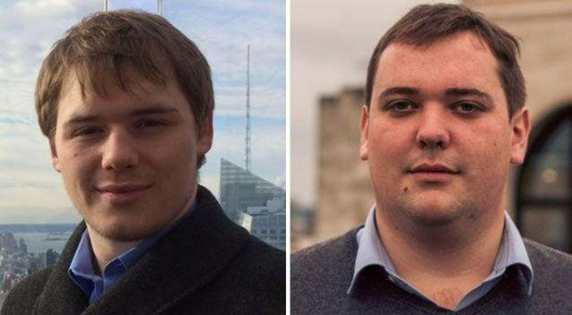 Brothers Edward Cousin, 23, and William Cousin, 25 were also onboard. Source: Supplied