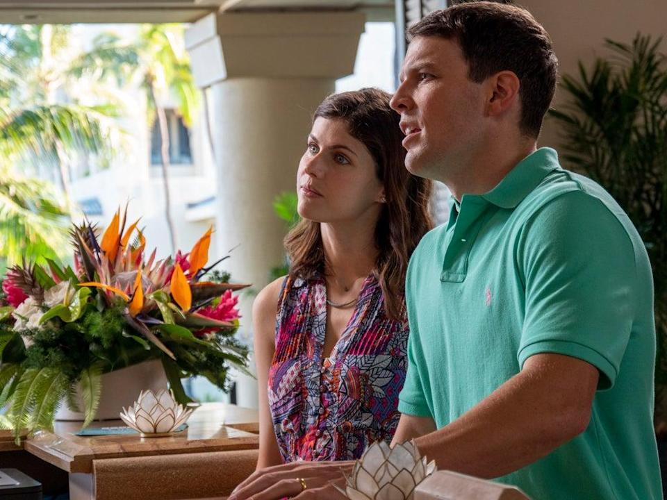 Shane, right, is convinced that he has been robbed of his rightful hotel suite (Sky Atlantic / HBO)