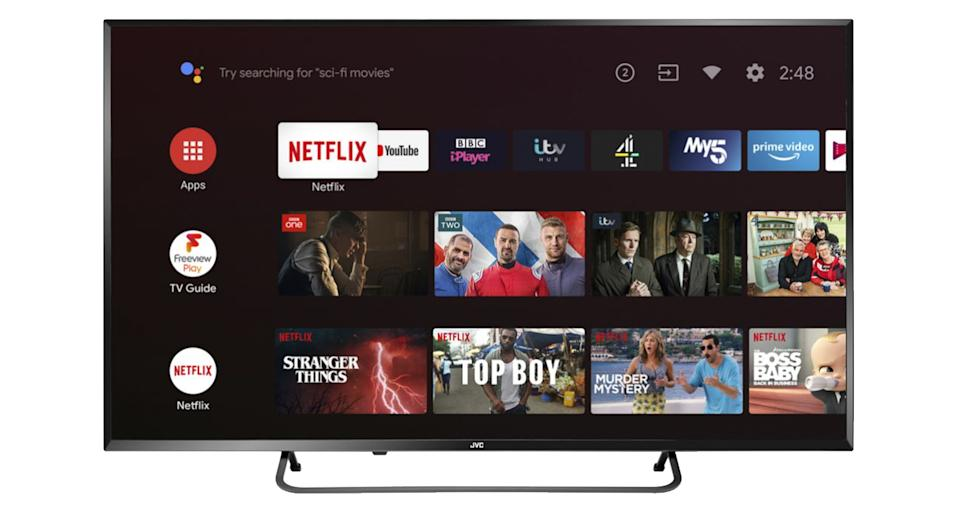 "JVC LT-50CA890 Android TV 50"" Smart 4K Ultra HD HDR LED TV"