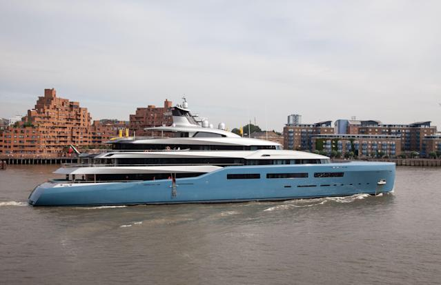 <p>Joe Lewis, the vessel's owner, owns three others yacht – all also called Aviva. (Rex) </p>