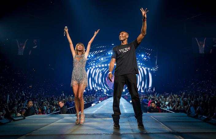 Kobe Bryant joined Swift for her 2015 tour stop in Los Angeles. (Photo: Christopher Polk/Getty Images for TAS)