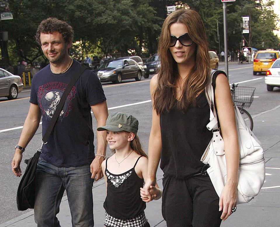Michael Sheen, Lilly Beckinsale, and Kate Beckinsale (Photo by Marcel Thomas/FilmMagic)