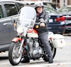 <p>Billy Joel is seen riding his vintage motorcycle through the Hamptons on Friday.</p>