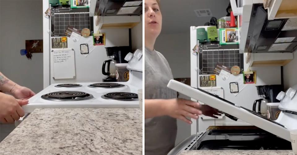 oven cleaning hack on tiktok